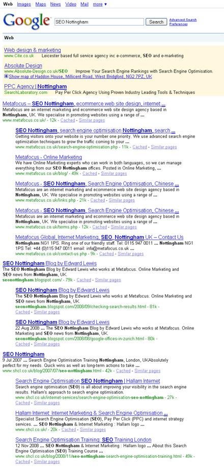 strange google result